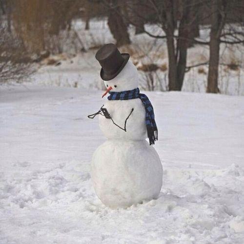 snowman_using_phone
